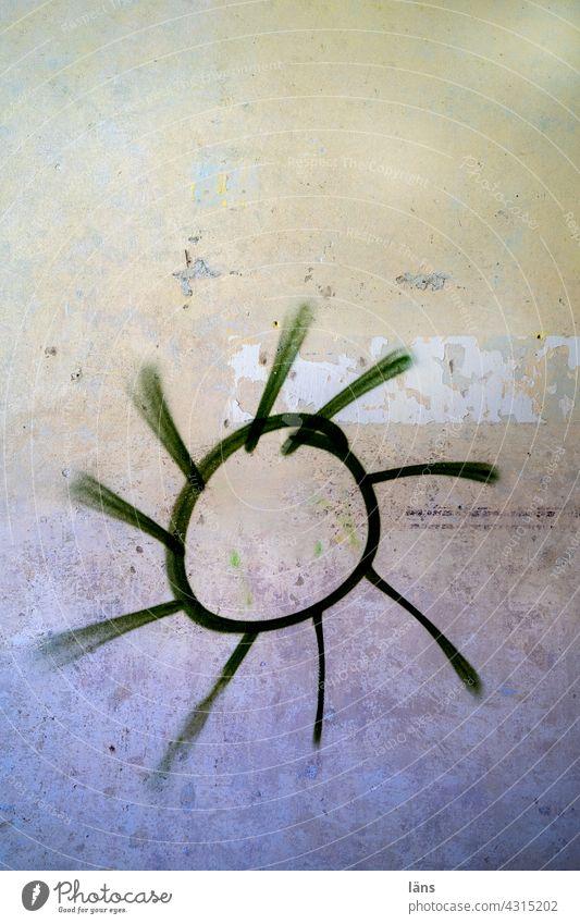 Lost Land Love l Green Energy Sun Graffiti green energy Wall (building) hope Renewable energy Energy crisis Solar Energy photovoltaics Sustainability