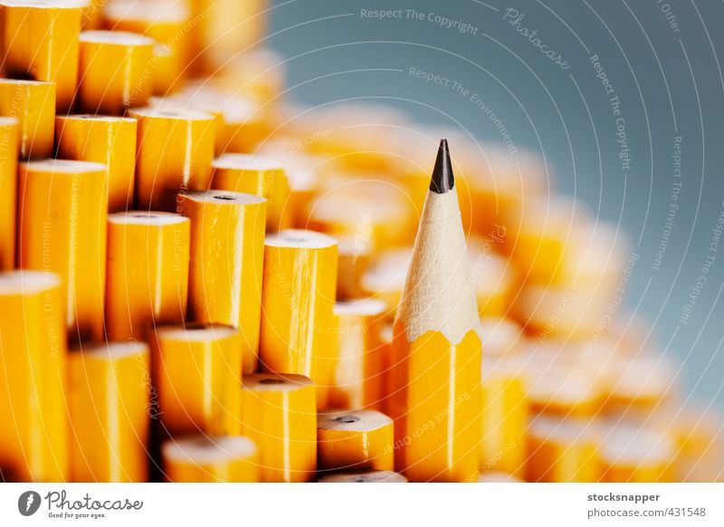 The Sharpest One Yellow Wood Exceptional Individual Uniqueness Sharp thing Still Life Difference Conceptual design Single Pencil Sharp Best Object photography Ready Graphite