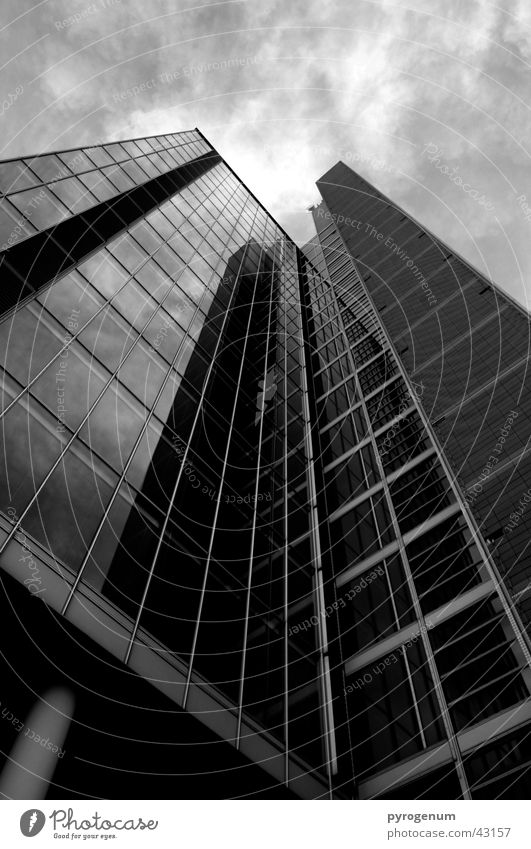 Sky White Black Architecture High-rise Tall Threat