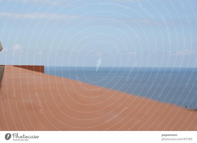 Sky Ocean Blue Wall (barrier) Europe Vantage point Balcony Handrail Atlantic Ocean Auburn