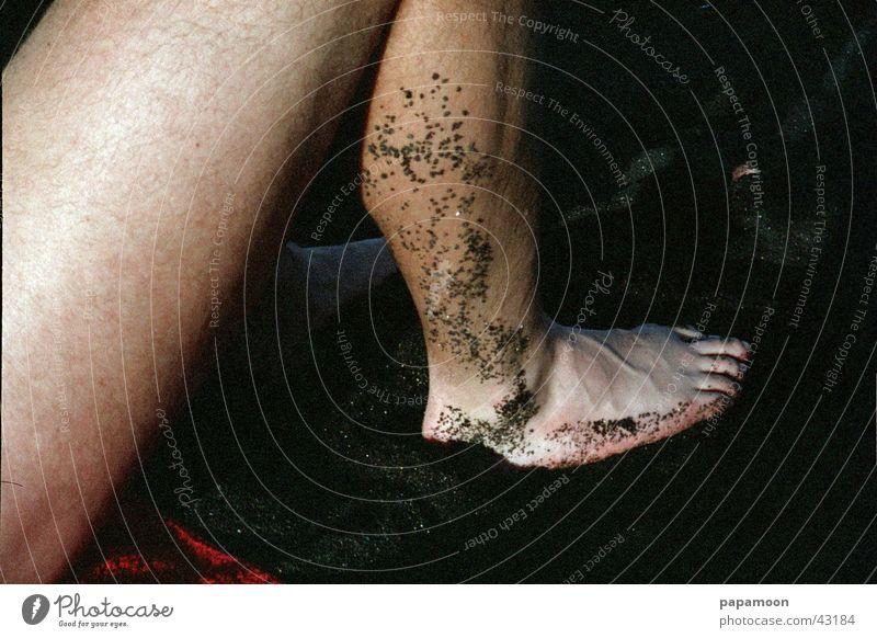Man Feet Sand Legs Brown Footprint Toes Lava Thigh Lava beach