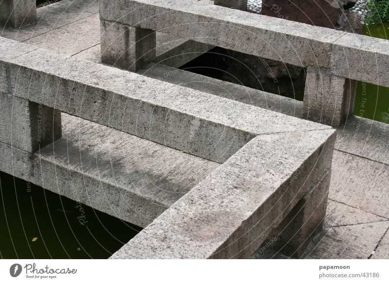 Stone Wall (barrier) Architecture Bridge Corner Footbridge Handrail Zen Bauhaus