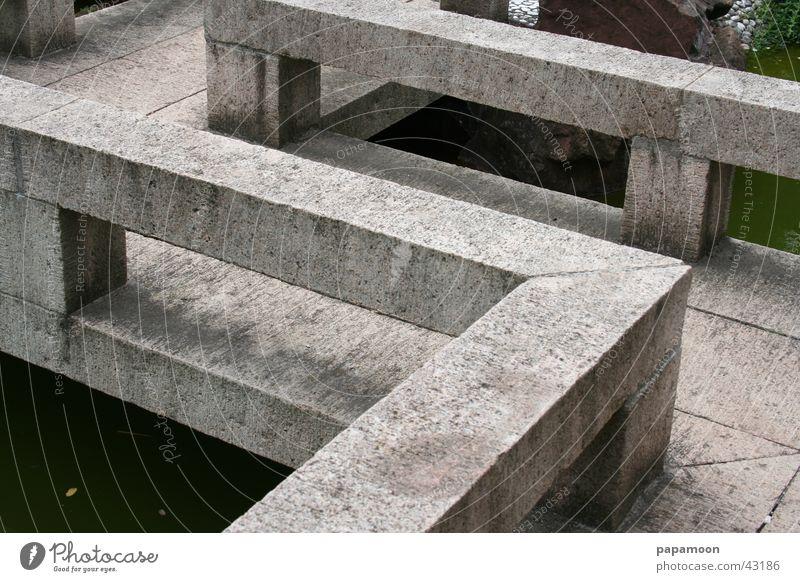 Stone Wall (barrier) Architecture Bridge Corner Footbridge Handrail Zen Bauhaus