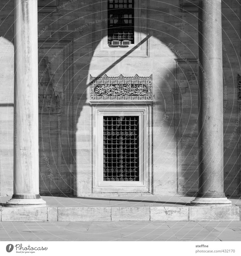 1009 nights | shaped Istanbul Esthetic Near and Middle East Mosque Islam Religion and faith Facade Elegant Fairy tale Black & white photo Exterior shot