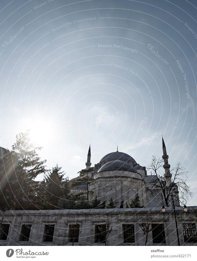 Sun Calm Religion and faith Esthetic Beautiful weather Peace Prayer God Awareness Istanbul Islam Mosque Minaret Süleymaniye Mosque