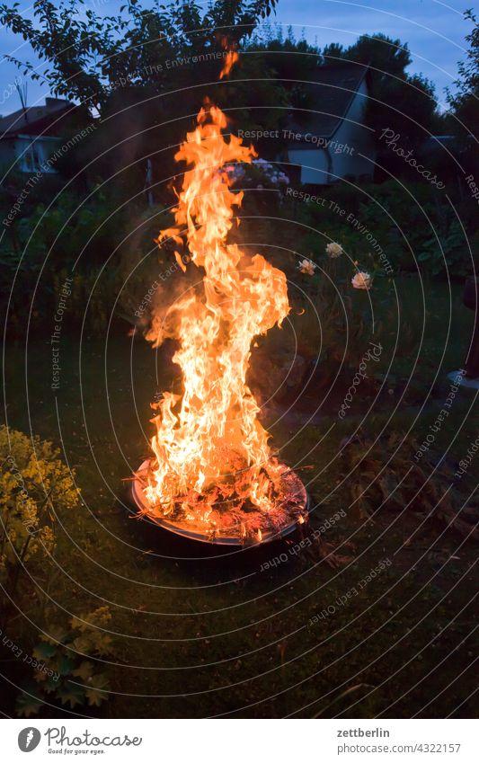 Fire in the fire bowl Evening Blaze Burn Camping Dark Fireplace Flame Garden Embers Bright Wood fire Storage blaze Night Nature outdoor Adventure incineration