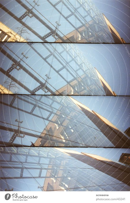 Life On The Electric Avenue House (Residential Structure) Window Leipzig Lomography Sky Blue Glass lomo. supersampler Architecture