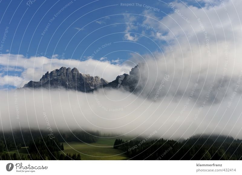View above and below the clouds Nature Landscape Clouds Summer Weather Fog Rock Alps Mountain Peak Breathe Going To enjoy Sports Hiking Far-off places Gigantic