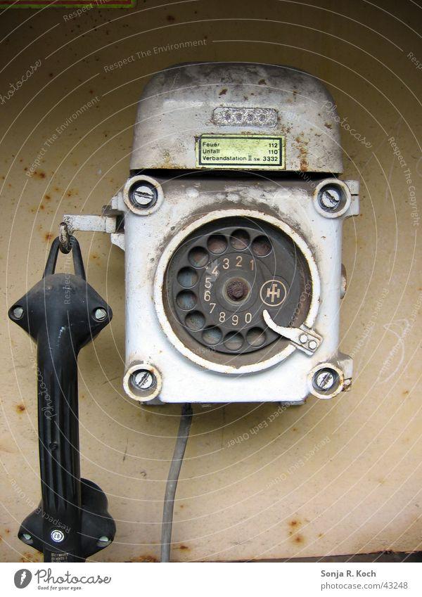Telephone Industry Steel Rust Audience World heritage Emergency call Rotary dial Industrial heritage