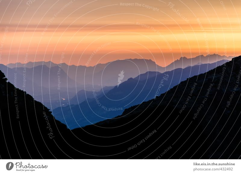 early morning summit happiness II Leisure and hobbies Vacation & Travel Tourism Trip Adventure Far-off places Freedom Summer Mountain Hiking Environment Nature