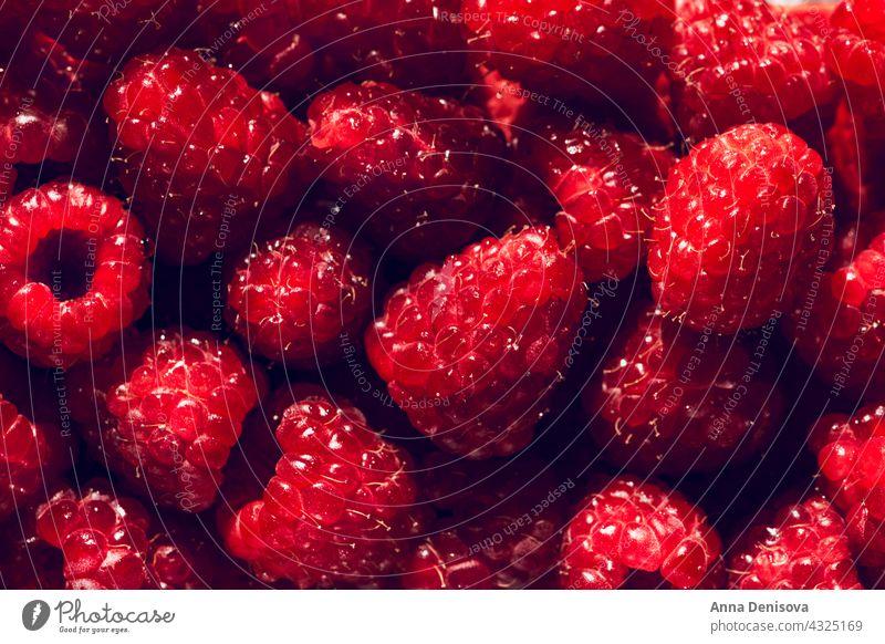 Macro of Fresh raspberries raspberry summer ripe delicious macro nutrition tasty food flatlay diet red sweet nutritious garden top view flat lay food background