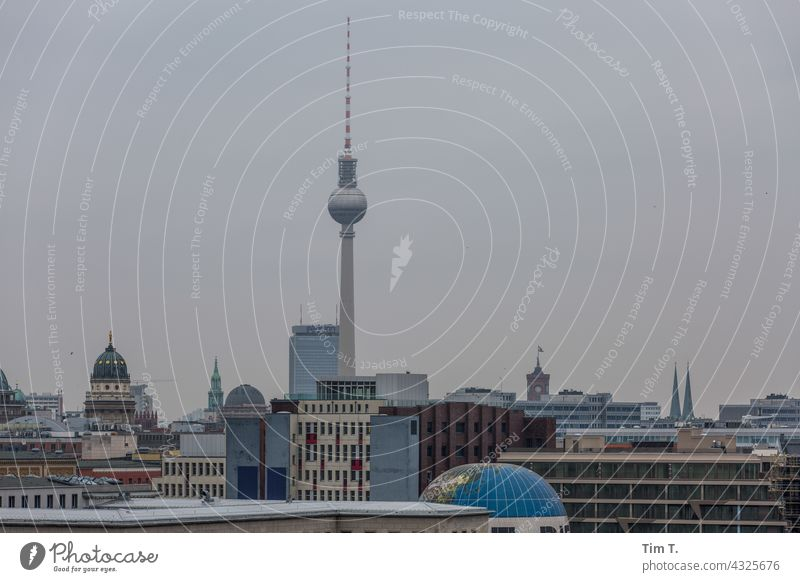 Skyline Berlin Television tower Berlin TV Tower Downtown Tourist Attraction Exterior shot Landmark Capital city Architecture Town Deserted City Day Colour photo