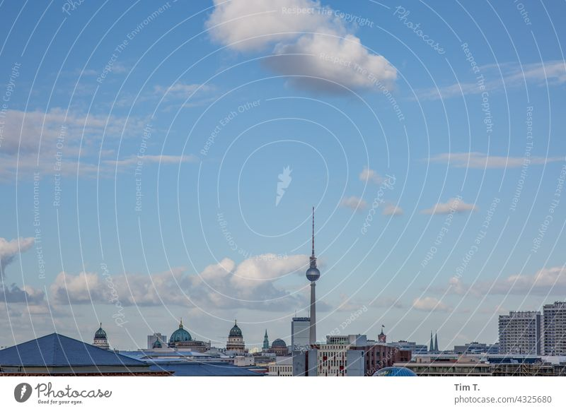 Skyline Berlin Television tower Berlin TV Tower Capital city Landmark Architecture Tourist Attraction Downtown Town Downtown Berlin City Exterior shot Germany