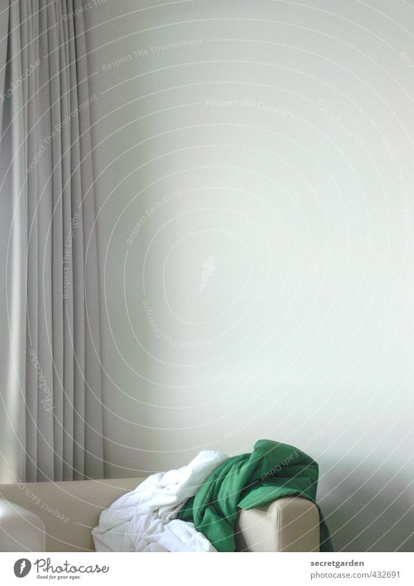 Green White Calm Wall (building) Eroticism Interior design Style Bright Flat (apartment) Room Elegant Lifestyle Living or residing Empty Furniture Wrinkles