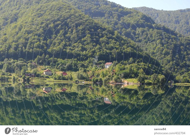 Reflection I House (Residential Structure) Landscape Water Forest Hill Lakeside Bay Bosnia-Herzegovina Village Relaxation Green Purity Harmonious Contentment