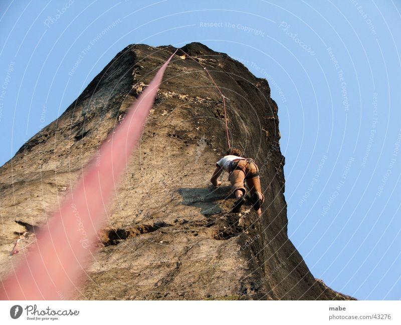 Saxony Climbing Top Sports Extreme sports Climbing rope Elbsandstein region Saxon Switzerland