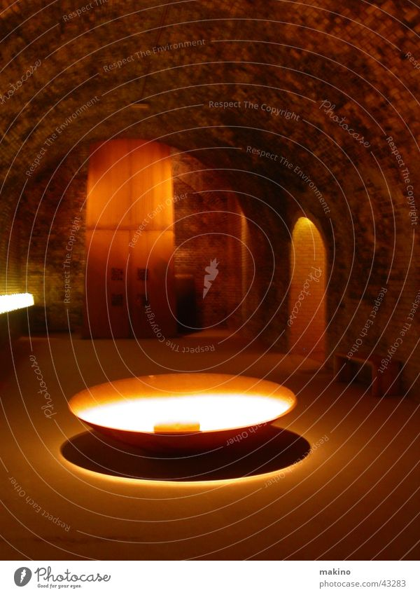 giant pot Cave Pot Light Dark Architecture Room Rock Stone Sand Bowl Water Shadow