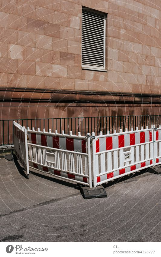cordon Construction site Barrier Safety Street Protection Wall (building)