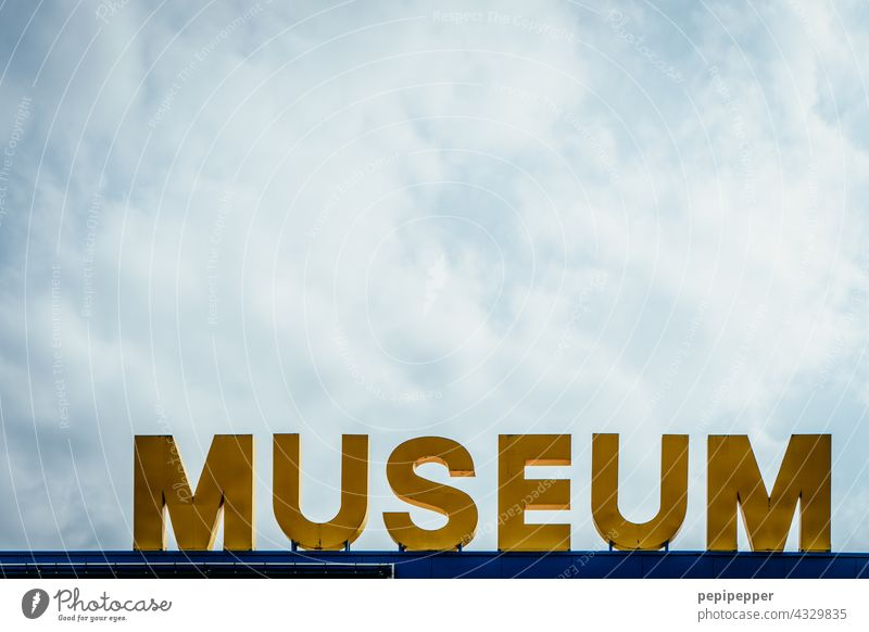museum Museum Typography typography typographically Characters writing lettering Letters (alphabet) Word Deserted Text Sign Exterior shot Signs and labeling