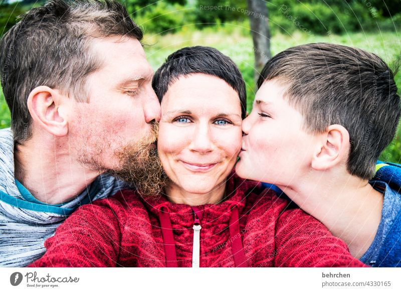 feel loved! fortunate muck about Infancy affectionately Smiling Family Mother Happy Contentment Safety (feeling of) Face Woman Attachment vacation Together