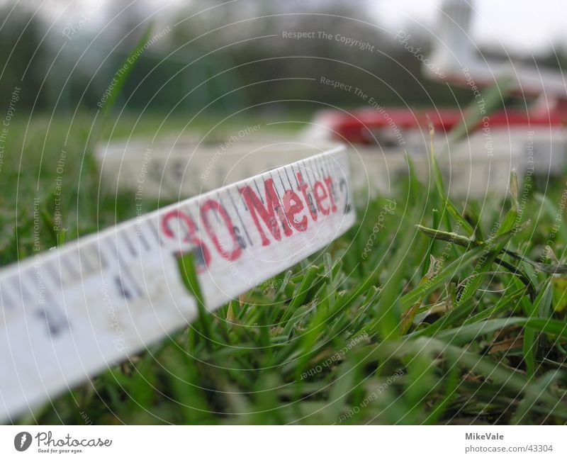 Green Signs and labeling String Lawn Playing field Meter Performance Tape measure