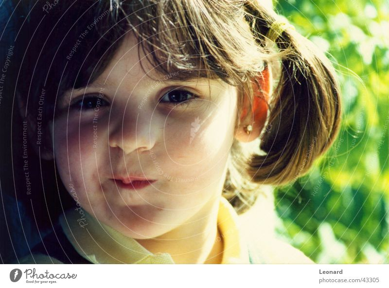 Human being Child Sun Girl Face Laughter Grinning