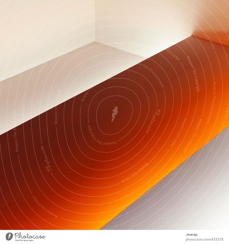 White Architecture Interior design Style Exceptional Background picture Art Orange Elegant Lifestyle Design Illuminate Esthetic Cool (slang) Clean Stripe