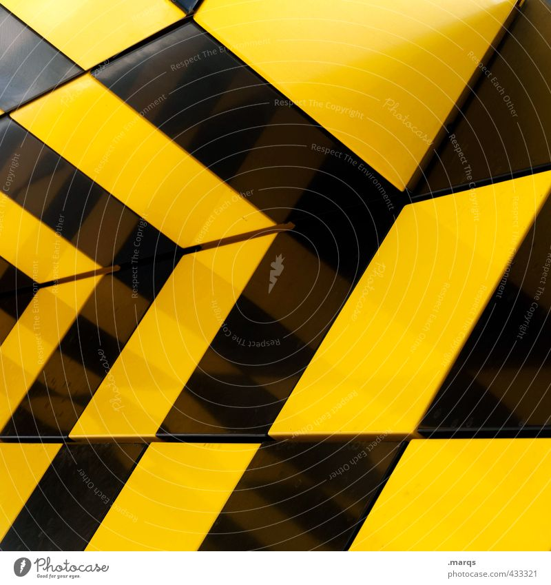 Colour Black Yellow Wall (building) Wall (barrier) Style Exceptional Background picture Elegant Lifestyle Design Arrangement Perspective Crazy Illustration