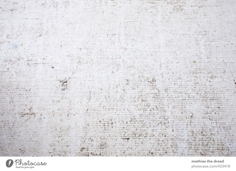 wall Wall (barrier) Wall (building) Facade Gloomy Minimalistic fire barrier Brick White Canceled Calm Sterile Motionless Colour photo Subdued colour