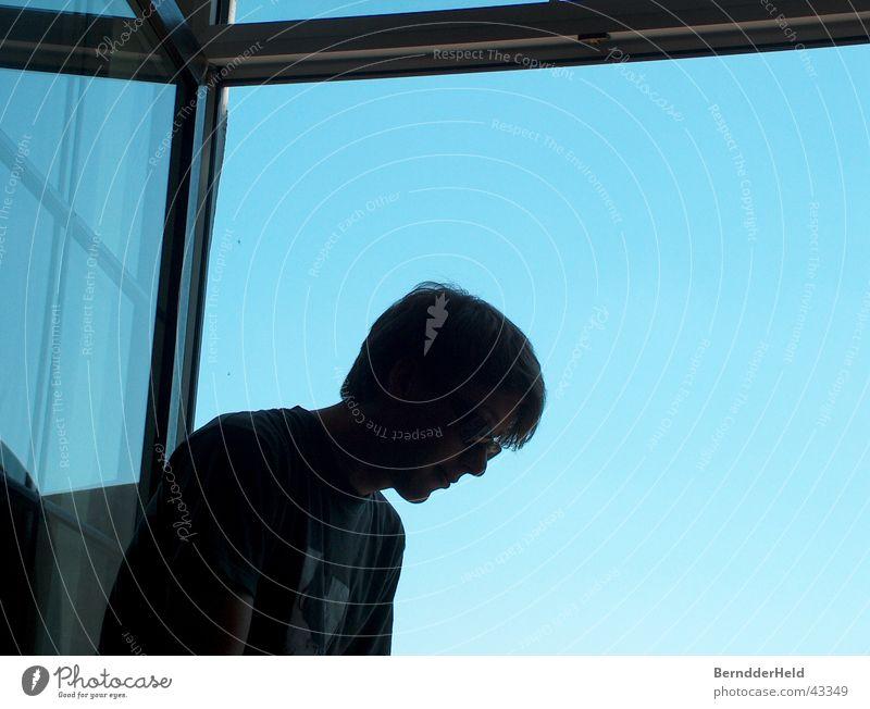 Man Sky Blue Window