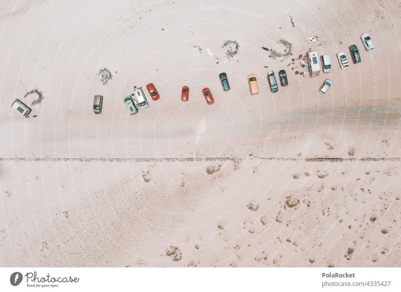 #A# Cars on the beach cars Beach UAV view droning drone flight Drone Photography Many Miniature minimalism Vacation destination Landscape Bird's-eye view Nature