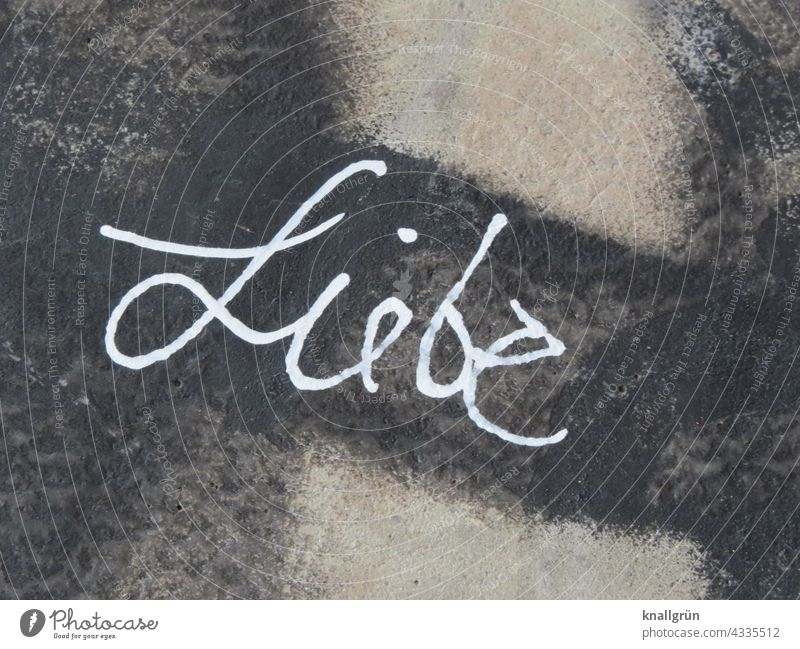 love Graffiti Love Emotions Wall (building) Wall (barrier) Characters Exterior shot Colour photo Deserted Day Infatuation Communicate Romance cursive Close-up