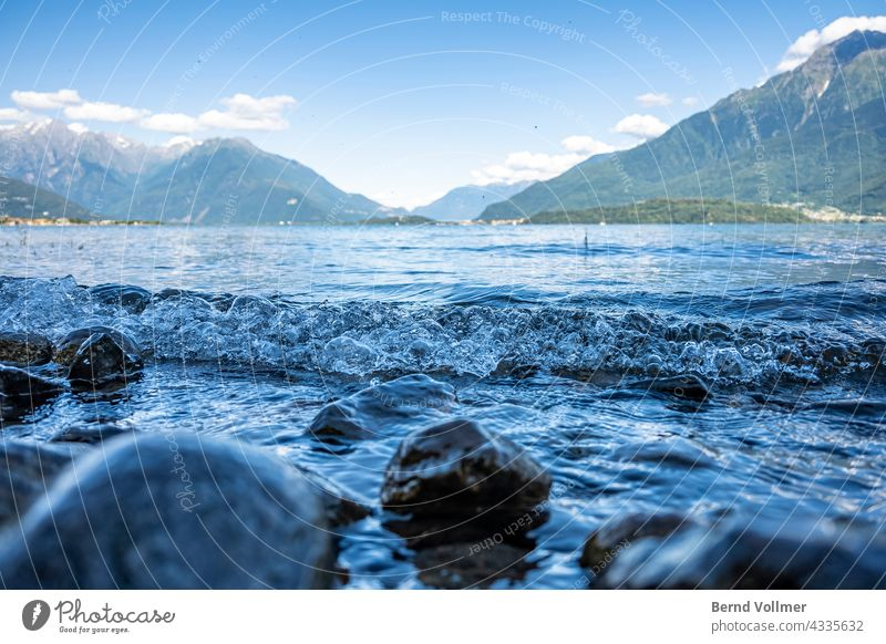 Swell on Lake Como in Italy italy Alps alpine lake mountain lake Nature Landscape by the lake Environment View of the mountains