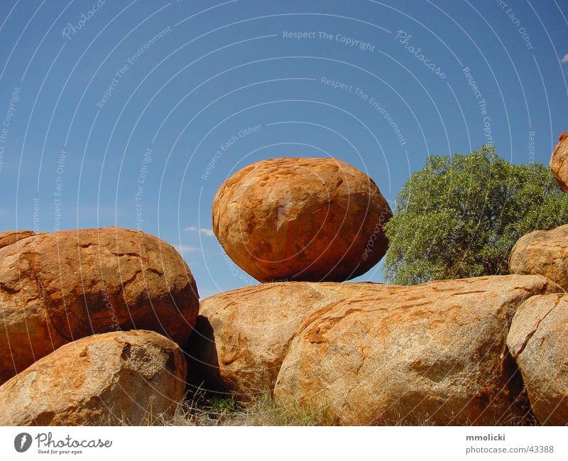 Red Stone Brown Rock Round Australia Northern Territory