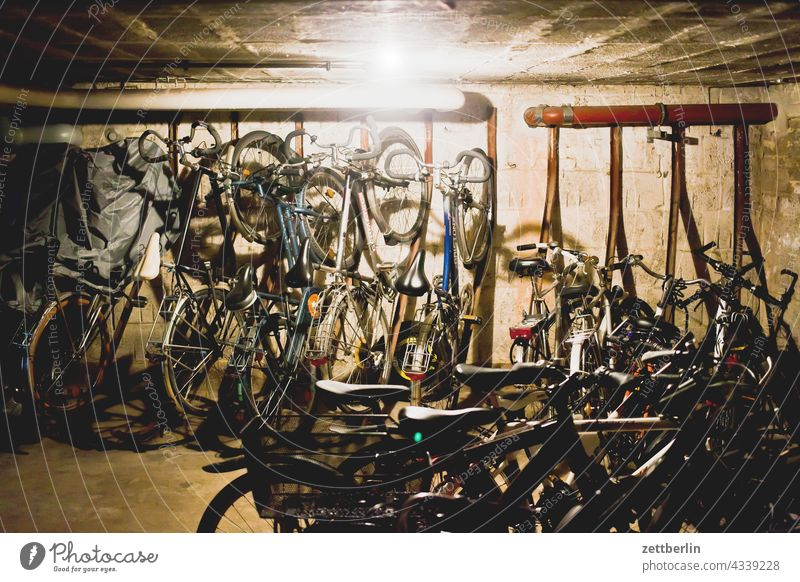 bicycle cellar Old building on the outside Window rear building Backyard Courtyard Interior courtyard downtown Apartment house Deserted apartment building Town