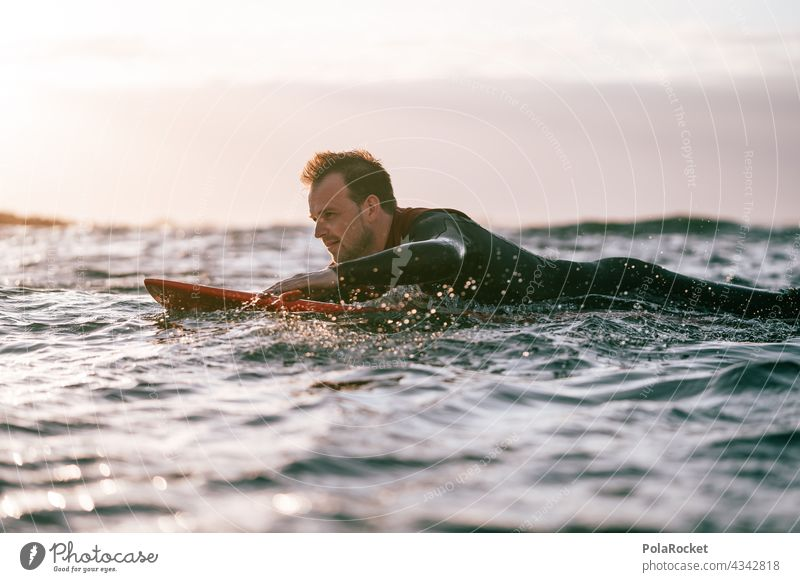 #AS# Surfer paddling Surfing Surfboard Surf school Surfers Paradise Fuerteventura Canary Islands Aquatics Extreme sports Ocean Waves Beach coast Sports