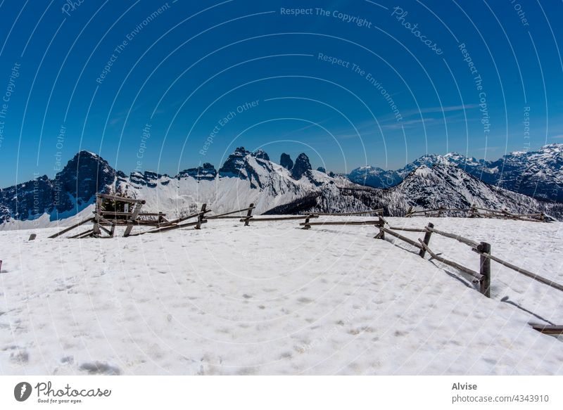 2021 05 09 Val Di Zoldo fence and snow 2 nature landscape travel mountain alpine scenery italy tourism beautiful peak alps scenic view dolomite outdoor belluno