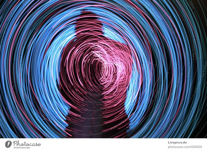 SHADOV RODDEN Leisure and hobbies Playing Human being Masculine Man Adults Body 1 30 - 45 years Rotate Illuminate Bright Crazy Blue Pink Visual spectacle