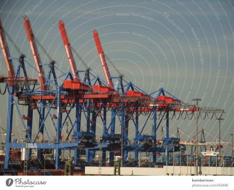 Watercraft Hamburg Industry Harbour Crane