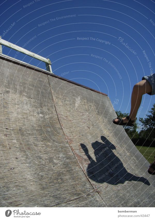 Child Sports Jump Skateboarding Halfpipe