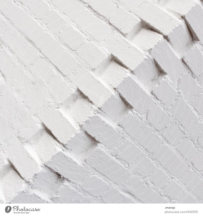 cohesion Elegant Style Design Construction site Wall (barrier) Wall (building) Sharp-edged Simple White Arrangement Precision Attachment Corner