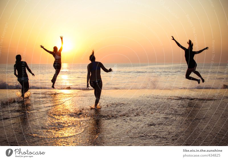 Human being Woman Nature Youth (Young adults) Vacation & Travel Ocean Young woman Joy Beach Far-off places Adults 18 - 30 years Life Emotions Feminine Freedom
