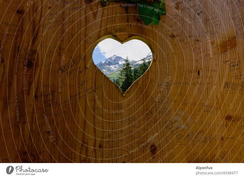 a heart for mountains Mountain Heart Landscape Nature Vacation & Travel Colour photo Exterior shot Deserted Hiking Peak Trip Alps Rock Toilet Tourism