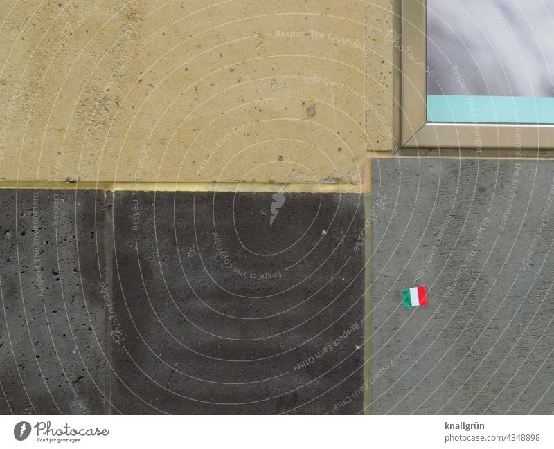Italy stickers Structures and shapes Colour photo Exterior shot Deserted Day Close-up Pattern Subdued colour Line Architecture Facade Wall (building)