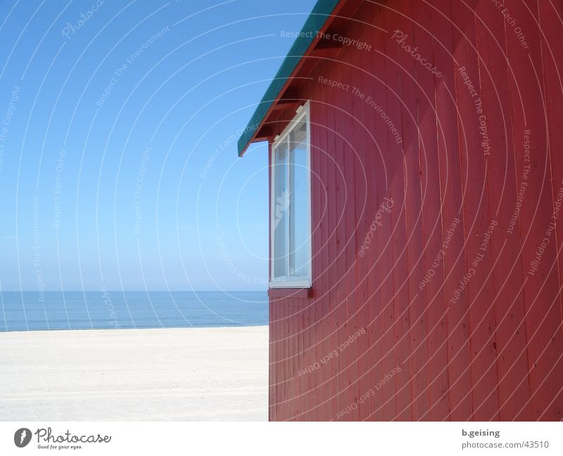 sea view Ocean Beach Sylt Beach hut Europe Germany