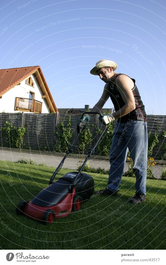 Man Sun Fresh Lawn Hat Electric Lawnmower Mow the lawn