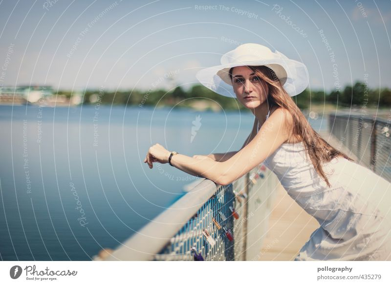 Human being Woman Sky Nature Youth (Young adults) Water Summer Young woman Adults 18 - 30 years Life Emotions Feminine Coast Body Beautiful weather