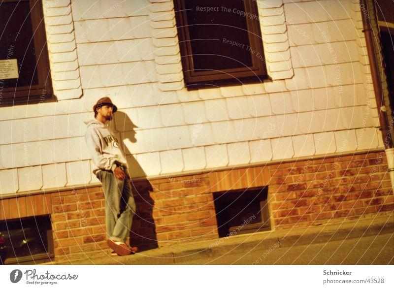 Night Thoughtful Night shot Man Ilmenau Think Human being