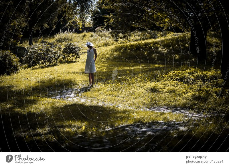 Human being Woman Nature Youth (Young adults) Beautiful Summer Loneliness Calm Landscape Young woman Adults 18 - 30 years Meadow Life Emotions Feminine