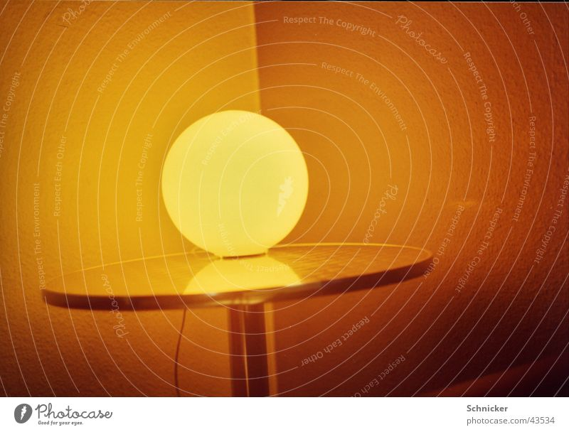 Lamp Living or residing Sphere Globe light
